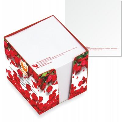 Кубарик, бумага 350гр./м2, ламинация 24мкм , блок 500 листов( печать в 1 цвет), 25шт.