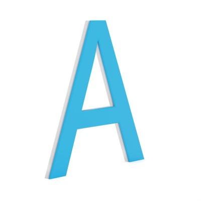 Плоские буквы . ПВХ 4 мм + Пленка ПВХЪ + дистанционники