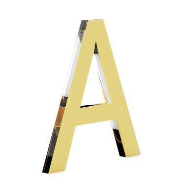 Объемные буквы без подсветки Оргстекло комбинация оргстекло+ золото/серебро