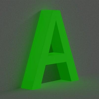 Объемные световые буквы с внутренней подсветкой. Без металлоконструкции