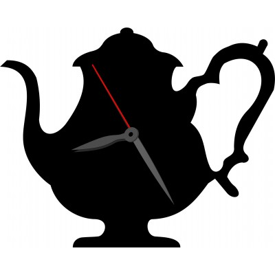 Часы из оргстекла чайник