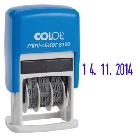 Colop S120 Мини-датер пластиковый. Высота цифр 3,8мм.