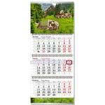Разработка календаря настенного квартального, сетка стандартная