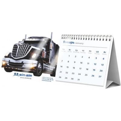 Календарь-домик с перекидными сетками,  цифровая печать + ВЫРУБКА (новая вырубка) сетка ИНДИВИДУАЛЬНАЯ