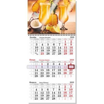 Календарь на 1 пружине без ламинации, крепление люверс, минимальный заказ 20шт.