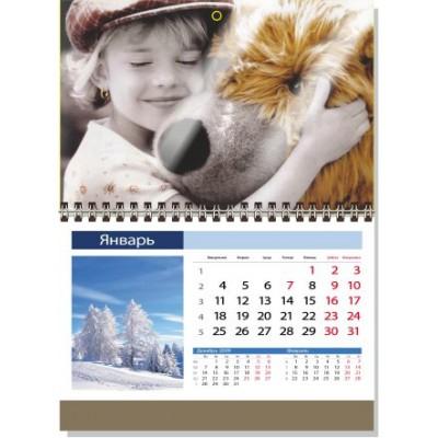 Календарь АНТИКРИЗИСНЫЙ А5  1 пружина,   сетка ИНДИВИДУАЛЬНАЯ, минимальный заказ 10шт.