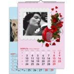 Календарь с фото 1 пружина НА РИГЕЛЕ, сетка ИНДИВИДУАЛЬНАЯ, вертикальный