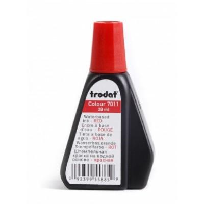 Штемпельная краска ТRODAT 7011/colop 801/shiny s-62/  красная