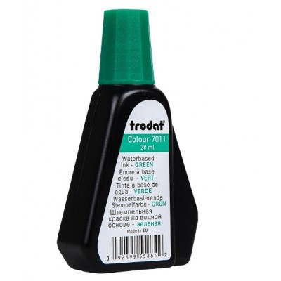 Штемпельная краска ТRODAT 7011/colop 801/shiny s-65/ зеленая