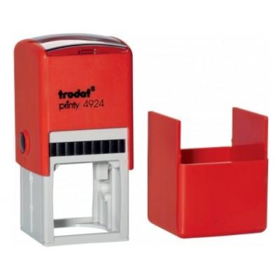 Trodat 4924 Оснастка автоматическая для круглой печати с крышкой  42*42мм.