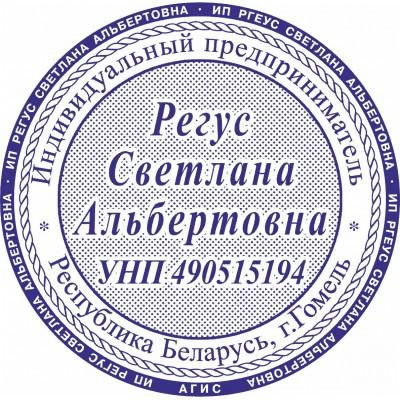 Печать для ИП. Образец №14