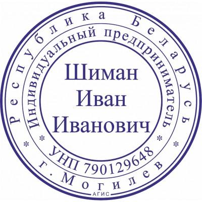 Печать для ИП. Образец №20