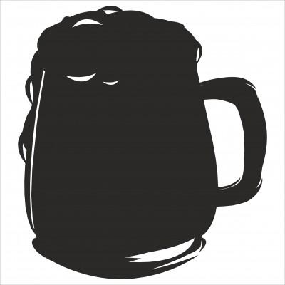 Фигурная меловая табличка Пивной бокал (односторонняя), 200х200 мм