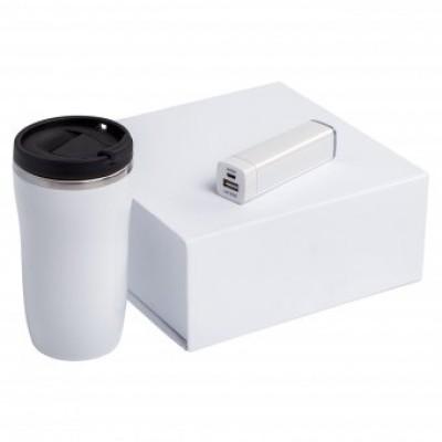 """Набор подарочный """"термостакан+внешний аккумулятор"""""""