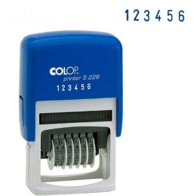 S226 Нумератор на 6 цифр, высота шрифта 4мм.