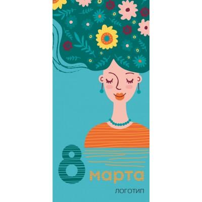Открытки к  8 МАРТА , карточка 300,  односторонние, №3