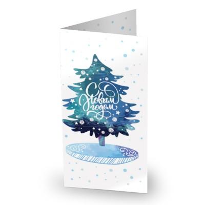 """Новогодняя открытка """" елочка в снегу"""""""