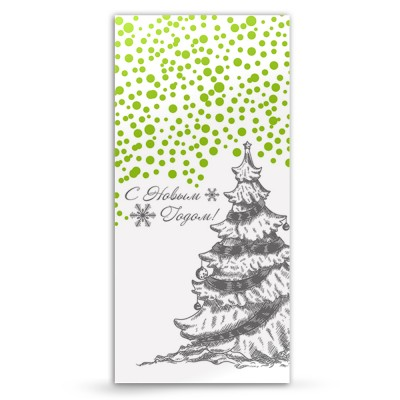 Новогодняя открытка  снежная елочка