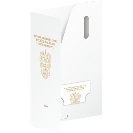 Папка А4  бумага 350гр./м2, без ламинации, с чистым карманом, 50шт.