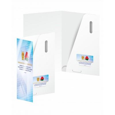 Папка А4,  бумага 350гр./м2, ламинация 24мкм матовая, с чистым карманом, 50шт.