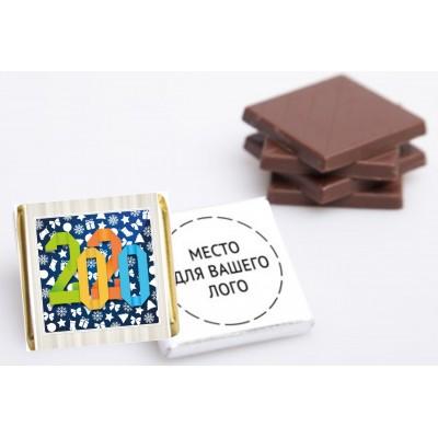 Шоколад с логотипом, 100шт.,  арт.3