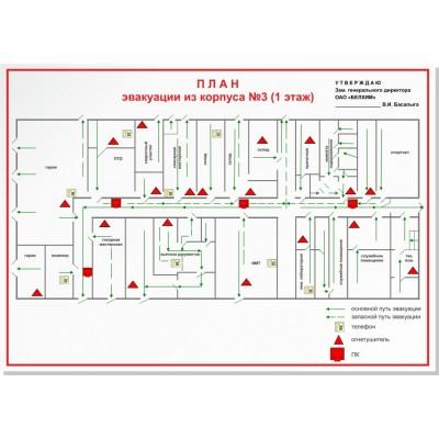План эвакуации на бумаге  420*297мм