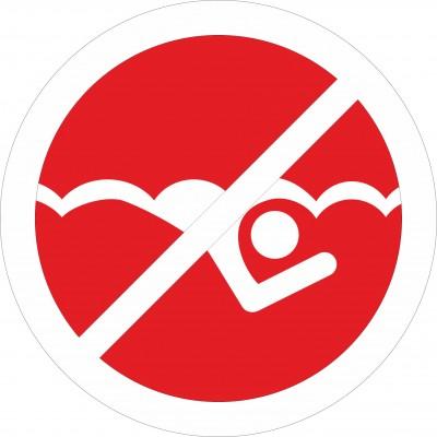 Табличка Купание запрещено, d150мм.
