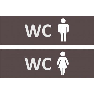 Табличка на туалет 160*50 мм, в 1 цвет, Арт. 21
