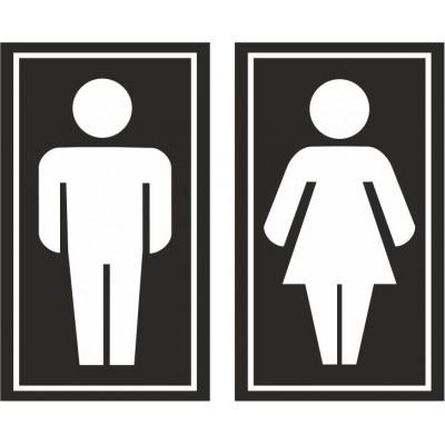 Табличка на туалет 100*170 мм, Арт. 1