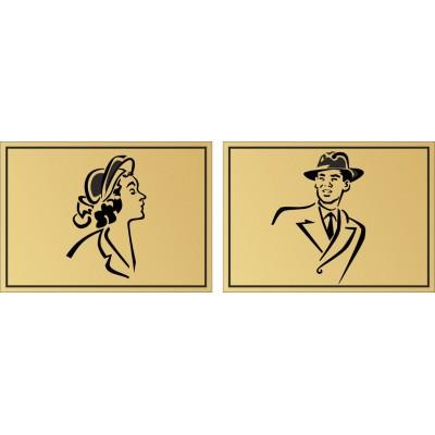 Табличка на туалет 100*71 мм, в 2 цвета, Арт. 10