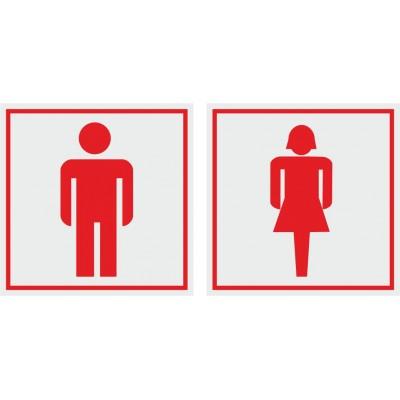 Табличка на туалет 100*100 мм, в 2 цвета, Арт. 12