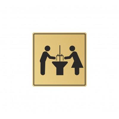 Табличка на туалет 100*100 мм, в 2 цвета, Арт. 14