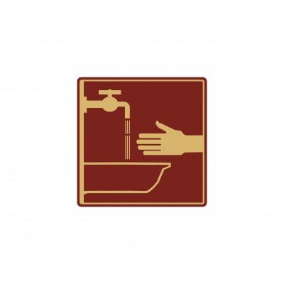 Табличка на туалет 100*100 мм, в 2 цвета, Арт. 19
