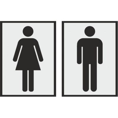 Табличка на туалет 100*135 мм, в 2 цвета, Арт. 2