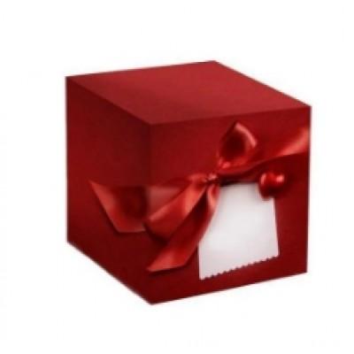 Коробка подарочная красная для кружки