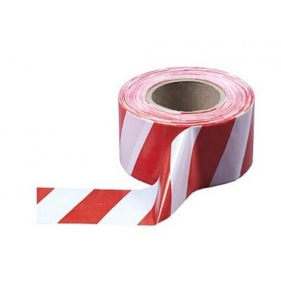 Лента оградительная бело-красная