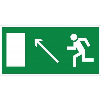 Е06 Направление к эвакуационному выходу налево вверх