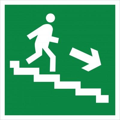 Е 13 Направление к эвакуационному выходу по лестнице вниз