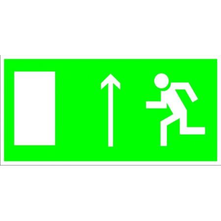 Направление к эвакуационному выходу по лестнице, табличка