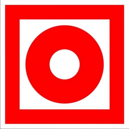 Кнопка включения установок (систем) пожарной автоматики, табличка