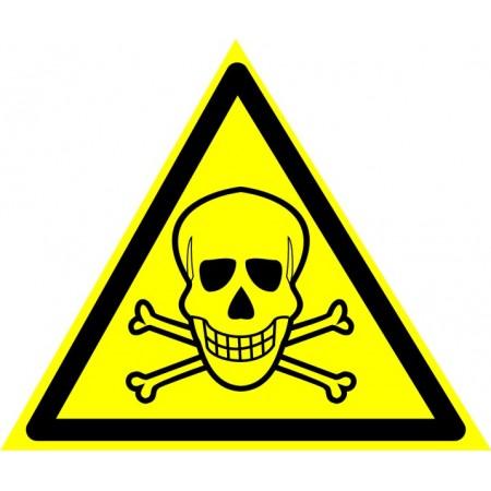 Опасно. Ядовитые вещества, табличка