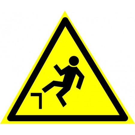 Осторожно. Возможность падения с высоты, табличка