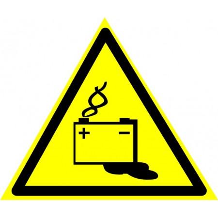 Осторожно. Аккумуляторные батареи. Табличка