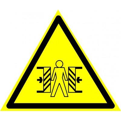 W23 Внимание. Опасность зажима.