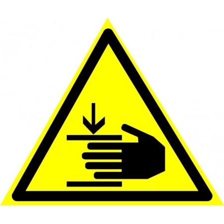 Осторожно. Возможно травмирование рук. Табличка