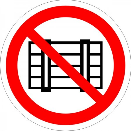Запрещается загромождать проходы, и (или) складировать, табличка