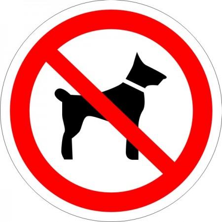 Запрещается вход (проход) с животными , табличка