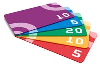 Дисконтные карты, бейджи, визитки
